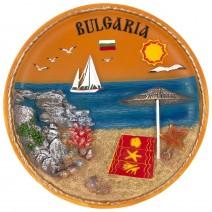 Souvenir plate Bulgaria - 20 cm