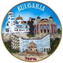 Souvenir plate Sofia - 16 cm