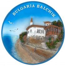 Souvenir plate Balchik - 14 cm