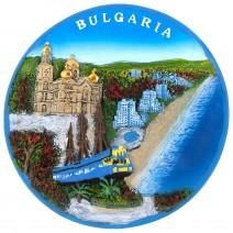Souvenir plate Bulgaria - 16 cm