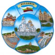 Souvenir plate Bulgaria - painted - 18 cm