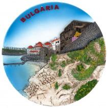 Souvenir plate Bulgarian Black Sea Coast - 14 cm