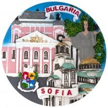 Souvenir plate Sofia - 14 cm