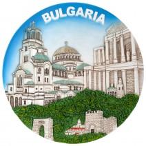 Souvenir plate collage Bulgaria - 16 cm