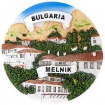 Souvenir plate Melnik - 14 cm