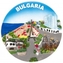 Souvenir plate North Black Sea coast - 16 cm