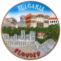 Souvenir plate Plovdiv - 16 cm