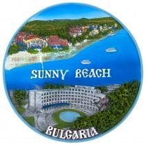Souvenir plate Sunny Beach - 16 cm