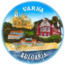 Souvenir plate Varna - 16 cm
