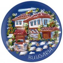 Souvenir plate Bulgaria - painted - 21 cm