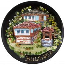 Souvenir plate Bulgaria - painted - 25 cm