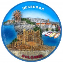 Souvenir plate Nessebar - 16 cm