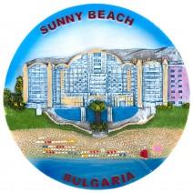 Souvenir plate Sunny Beach - 14 cm
