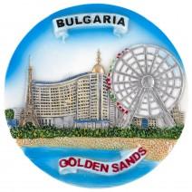 Souvenir plate Golden Sands - 14 cm