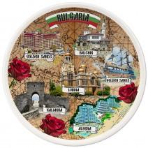 Porcelain Souvenir Plate - Collage Northern Black Sea Coast - 15 cm