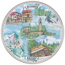Porcelain souvenir plate - Bansko - 21 cm