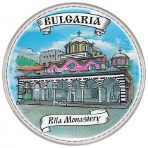 Porcelain souvenir plate - Rila Monastery - 21 cm