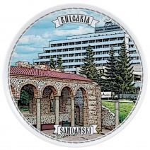 Porcelain souvenir plate - 18 cm - Sandanski