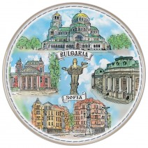 Porcelain souvenir plate - Sofia - 21 cm