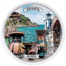 Porcelain souvenir plate - 18 cm - Sozopol