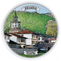Porcelain souvenir plate - 18 cm - Tryavna