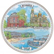 Porcelain souvenir plate - Varna - 21 cm