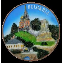Poliresin plate Bulgaria - Shipka 16  cm