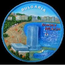 Poliresin plate Sunny beach 14 cm