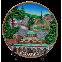 Poliresin plate of BG monasteries 16 cm