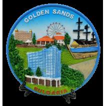 Poliresin plate Golden sands 16 cm