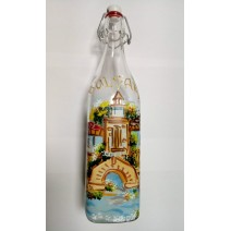 Glass bottle with drawing - 1 l.