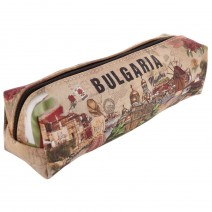 Pencil case with stamp Bulgaria