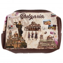 Purse with with zip - stamp Bulgaria