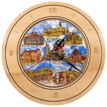 Souvenir Clock with Collage Bulgaria - 22 cm