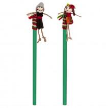Souvenir pencil with decoration doll
