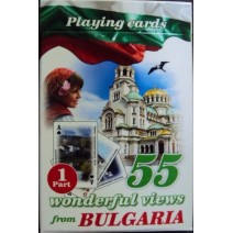 Playing cards small size with 55 views from Bulgaria - 1