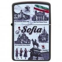Souvenir petrol lighter - collage Sofia