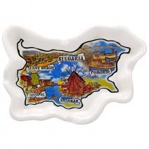 Cewramic souvenir ashtray collage Bulgaria and South and Nort Black Sea Coast