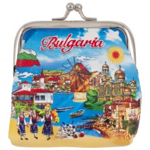 Souvenir wallet with metal fastener with stamp Bulgaria