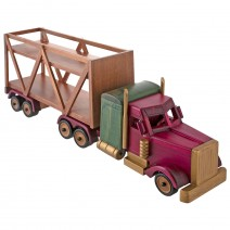 Wooden truck-truck stand for bottle