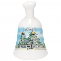 Souvenir ceramic bell with different resorts