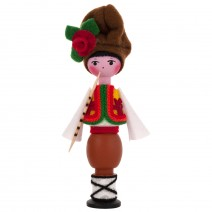 Souvenir doll in traditional costume 14 cm