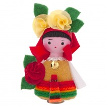 Souvenir doll in traditional costume 9 cm