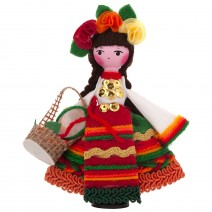 Souvenir doll in traditional costume 15 cm