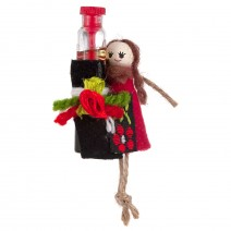 Magnet - Souvenir doll - girl with a rose essence