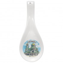 Porcelain table spoon - with different views from Bulgaria