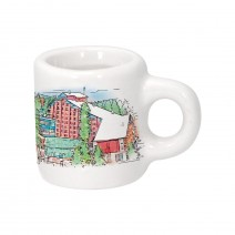 Magnet ceramic small cup with different resorts