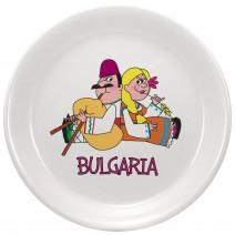 Magnet small ceramic plate - fun folklore