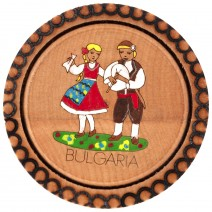 Magnet pyrography and drawing Bulgaria - saucer