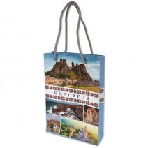 Gift bag colored with handle 18,5 х 12 cm